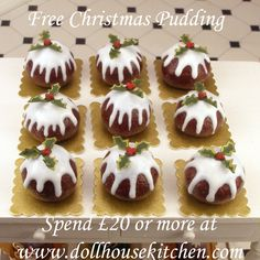 Dollhouse Miniature Free Christmas Pudding