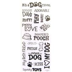 Stickabilities Dog Sayings Stickers | Shop Hobby Lobby
