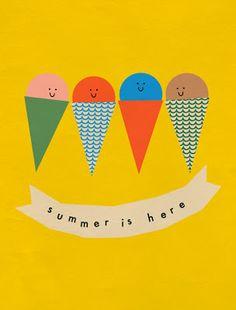 Festive Summer Artwork by Anna Kövecses via Kickcan & Conkers