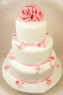 Hochzeitstorte Rosa Rose
