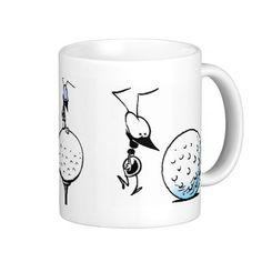 A great coffee mug for a keen golfer. FORE! #zazzle #golf #coffeemug #golfcartoon #golfball $22.95