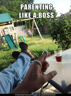 Parenting like a boss hahahaha I can see this with my brother and his kids lol