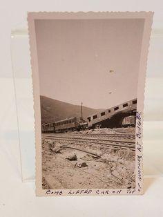 Vintage Antique WWII World War 2 Bomb Lifted Railroad Train Cars Bingen Germany