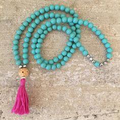 Turquoise mala beads. Maa beads. 108 beads. by LindsayRaeDesigns