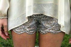 #glitter shorts