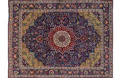"""Vintage Tabriz - 7'10 x 11'1"""" - Apadana"""