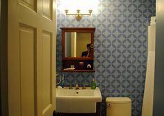 ktmade: Stenciling the Bathroom