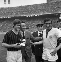Gianni Rivera (Ballon d'Or) et Gigi Riva 1969