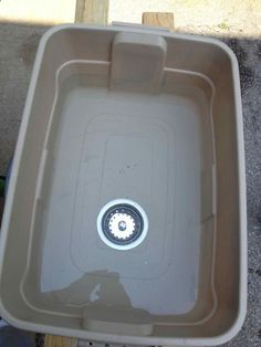 Outdoor camping sink project. Awesome idea on keeping your camp dry and conserving water!