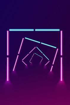 Simple Illuminated Lines Neon Stereoscopic Bg Design, Neon Design, Banner Design, Creative Design, Neon Poster, Neon Led, Neon Photography, Neon Backgrounds, Geometric Poster