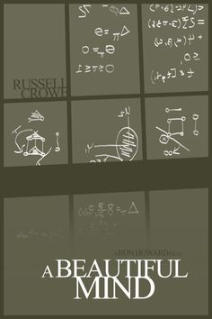 A Beautiful Mind (2001) ~ Minimal Movie Poster by Foursquare #amusementphile