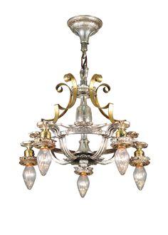 Victorian 19 Inch Restored Pratt Mansion 5 Light Chandelier by Meyda Lighting - 106552