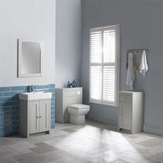 Tavistock Lansdown Pebble Grey Vanity Unit 550mm - Traditional Vanity Units - Vanity Units - Bathroom Furniture