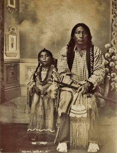Black Wolf and his daughter - Arapaho - circa 1885