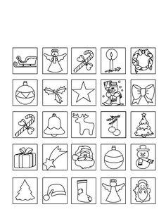 Risultati immagini per memory di natale stampare e colorare