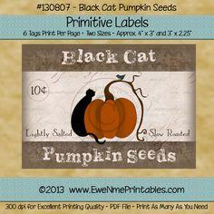 Printable Label Sheet - Pumpkin Seeds