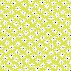 Citron Twist Collection - Citron Daisy Dot by Maria Kalinowski for Kanvas Studios at Benartex Fabrics - Listed by the Half Yard by RealStitchersofTexas on Etsy