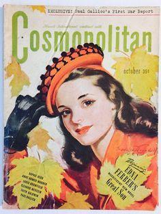 Old Magazine Covers | Cosmopolitan magazine, OCTOBER 1944 Artist: Bradshaw Crandell