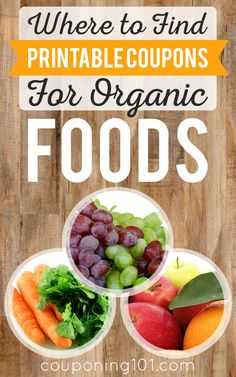List of the best websites where you can find printable coupons for organic foods!