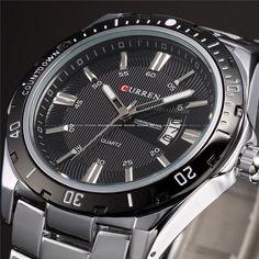 CURREN Luxury Brand Full Stainless Steel Analog Display Date Men's Quartz Watch Waterproof Watches Men Watch relogio masculino  #MensWatch
