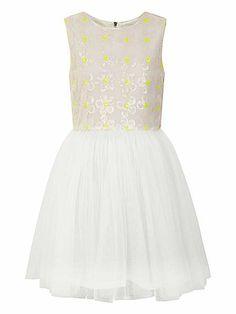 Yumi Girls Girl`S Sequin Daisy And Mesh Dress http://www.weddingheart.co.uk/house-of-fraser-young-bridesmaids-flower-girl-dresses.html