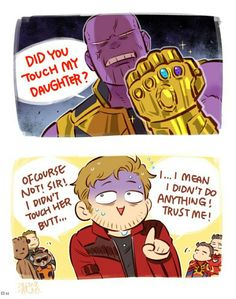 Thanos & Starlord   The Avengers: Infinity War   澈(Che)