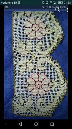 Crochet Edging Patterns, Crochet Borders, Filet Crochet, Baby Knitting Patterns, Tapestry Crochet, Crochet Flowers, Doilies, Diy And Crafts, Projects To Try
