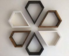 25 Geometric wooden shelf design ideas – Home Decor Ideas