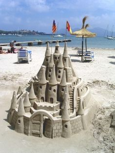 sand castle by Cindere