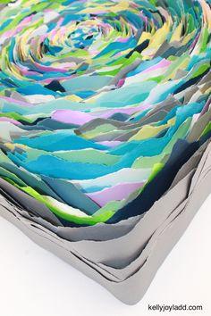 """Hypnotic paper art 30"""" x 30"""" - kellyjoyladd.com"""