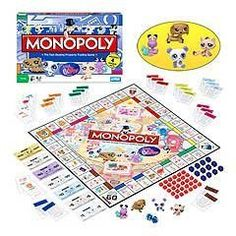 LPS Monopoly Littlest Pet Shop Edition Board Game Brand New in Box with 4 Collectible Bobble Head Toy Pets