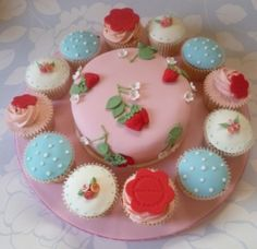 Cath Kidston inspired gluten/wheat free cake with cupcake. What inspires you?? We could create something for you. Related