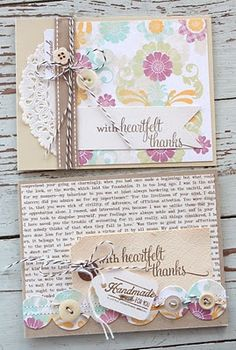 Cards - Great for using up paper scraps - good for quote cards