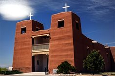 Sacred Heart Church at Nambe Pueblo, New Mexico