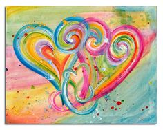 'Dance with Me' ~ Heart Art Prints | Debbie Marie Arambula | The Painter of Love | Morgan Hill, CA