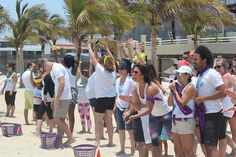 Seacret Agents competing in beach olympics teambuilding at Agent Destination Mission:Cabo in Los Cabos, Mexico. #MissionCabo