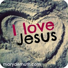 I #love #Jesus. Do you? He loves you right now, #yesterday, and #tomorrow.