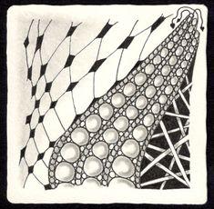 Zentangle - 10. März 2015 - Zentangle patterns: Florz, Onamato, Hollibaugh