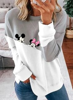 Fall Fashion Outfits, Autumn Fashion, Casual Outfits, African Print Dress Prom, Minnie Mouse, Tie Dye Sweatshirt, Fall Sweaters, Daily Fashion, Women's Fashion