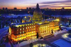 Edmonton Legislature Buildings in Winter, Alberta, Canada