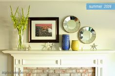 Inspired Honey Bee: home: summer mantel simplicity fireplace spring @westelm starfish