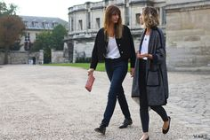 Street Style: Paris Fashion Week Spring 2014 - Vogue Daily - Fashion and Beauty News and Features Fashion Week Paris, The One, Fashion Gone Rouge, Paris Mode, Street Style Summer, Parisian Chic, Fashion Pictures, Daily Fashion, Autumn Fashion