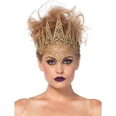 Crown Royal, Queen Crown, Costume Sexy, Queen Costume, Pixie Costume, Dance Costume, Metal Crown, Gold Crown, Gold Tiara