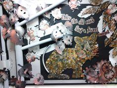Forest Tiger Hematite & Swarovski alternative bouquet with cool blue Swarovski Xilions, Icy blue Swarovski skulls and hematite hearts Paper Flower Kit Paper Flowers DIY Paper Flower Template Paper Flowers Diy, Diy Paper, World Book Day Ideas, Primary School Art, School Art Projects, School Ideas, Classroom Displays, Classroom Ideas, Alternative Bouquet