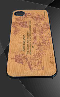 Adult Disneyland Ticket Disney for iPhone 4/4s, iPhone 5/5S/5C/6, Samsung S3/S4/S5 Unique Case *76*