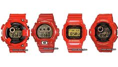 Seria zegarkow Casio G-Shock - Rising Red