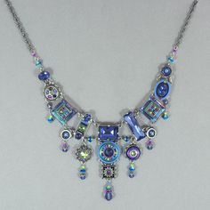 Firefly La Dolce Vita Elaborate Necklace - Tanzanite