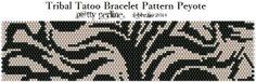 P@tty Perline : Tribal Tatoo Bracelet - Pattern Peyote