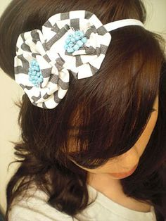 THE SISTERS FOUR: How to: Fabric flower headband