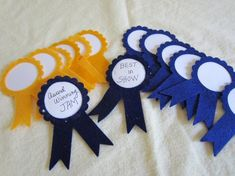 Prize Ribbons- First Place-Blue and Gold AWARD Ribbon-Felt Award Ribbons-Trophy Ribbons-Quiet Books-Winners Felt Ribbon-Prize Ribbon - Loss Tutorial and Ideas Bible Crafts For Kids, Fathers Day Crafts, Preschool Crafts, Art For Kids, Diy Father's Day Crafts, Paper Crafts, Blue Ribbon Award, Best Encouraging Quotes, Felt Glue